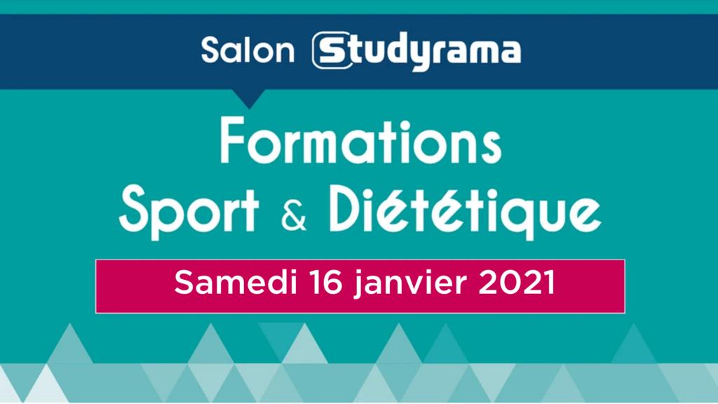 Salon des formations sports ét diététique Studyrama - 16 janvier
