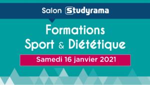 Salon virtuel des formations sport et diététique – 16 janvier